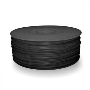 A spool of ABS plastic filament in 1KG Charcoal Grey