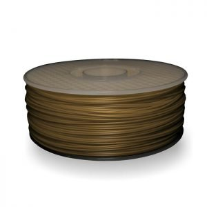 A spool of ABS plastic filament in 1KG Dusty Gold