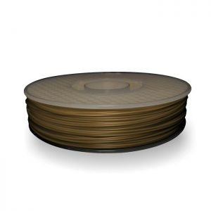 A spool of ABS plastic filament in 500g Dusty Gold