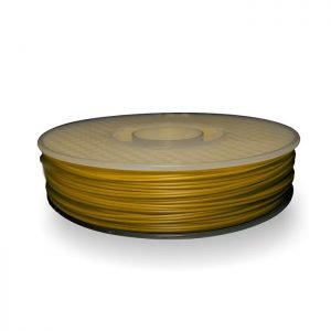 A spool of ABS plastic filament in 500g Yellow