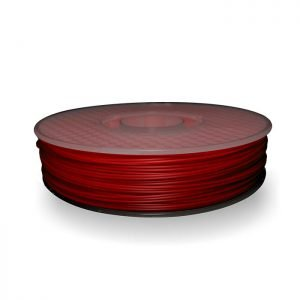 A spool of ABS plastic filament in 500g Red