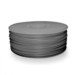 A spool of ABS plastic filament in 1KG Silver