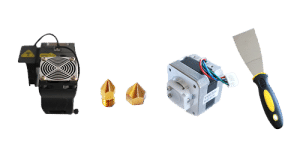 Replacement UP 3D printer parts to keep as spares nozzles stepper motor