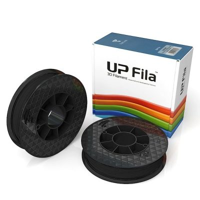 Box of UP Genuine Original ABS 1.75mm diameter filament 2 spools of 500g per pack in black