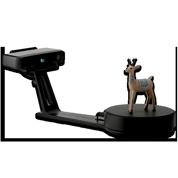 EinScan SE Desktop 3D scanner with model on top